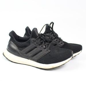adidas UltraBoost 4.0 black running shoes sneaker